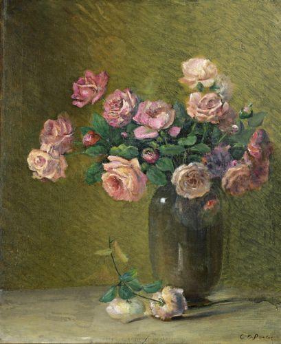 Розовые розы на столе - изображение 1