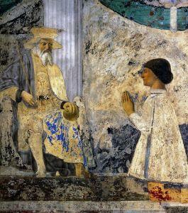Франческа делла Пьеро Святой Сигизмунд и Сигизмундо Пандольфо Малатеста
