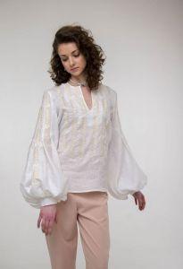Жіночі вишиванки Вишита блуза Струмівка біла