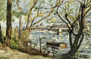 Le Pont du Carrousel sur la Seine