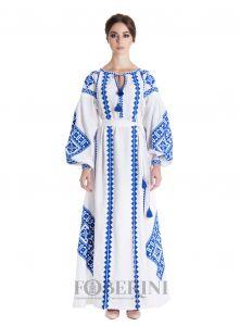 """Платье-вышиванка """"Снежное сияние"""""""