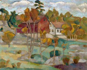 Фермерський будинок восени
