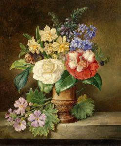 Барокко Букет цветов в вазе 2