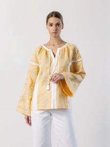 Вишиті жіночі сорочки ручної роботи Лляна вишиванка вільного крою Zozu
