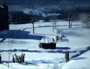 Беллоуз Джордж Уэсли Голубой снег, Бэттери-парк