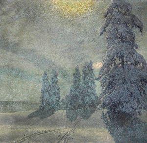 Фьюэстад Гюстав Зимний пейзаж 6