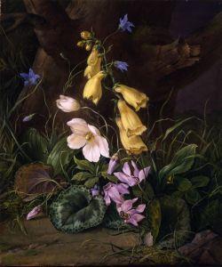 Барокко Полевые цветы у подножия дерева