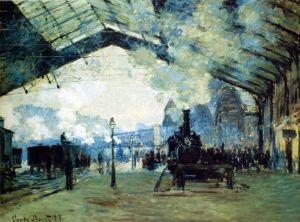 Мане Эдуард Поезд на вокзале Сен-Лазар, Нормандия
