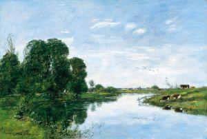 Буден Эжен Река Тук в Сен-Арно