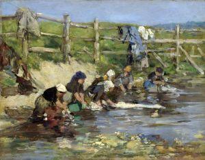 Буден Эжен Прачки у реки