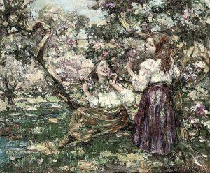 Постимпрессионизм Девушки среди цветов