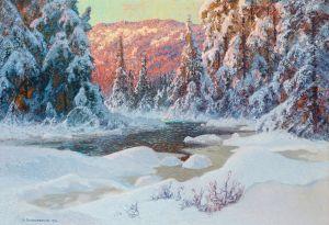 Шультцберг Ансельм Зимний вечер в глухом лесу