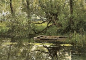 Клаус Эмиль Лодка на реке
