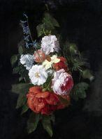 Букет из роз, чертополоха, нарциссов и др цветов