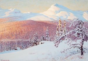 Фьюэстад Гюстав Зимний пейзаж 3