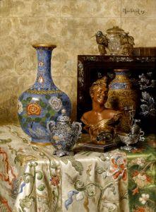 Шедль Макс Натюрморт с азиатской вазой
