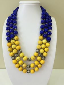"Ожерелье из бирюзы Ожерелье ""Украинское"""
