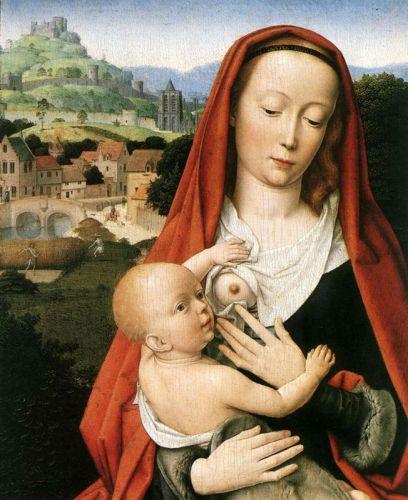 Мадонна, кормящая Младенца молоком