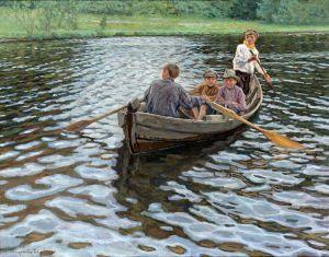 Богданов-Бельский Николай На озере