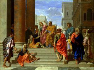 Пуссен Никола Святые Пётр и Иоанн, исцеляющие хромого