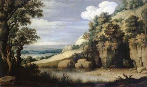 Барокко Пейзаж с озером
