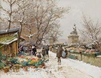 Париж, цветочный рынок