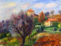 Склон с оливковыми деревьями