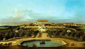 Рококо Замок Шлосс Хоф с видом на сад