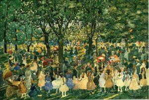 Прендергаст Морис Брэзил Майский праздник в Центральном парке 2