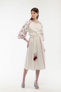 Женские вышиванки Платье вышитое Ясочка молочное