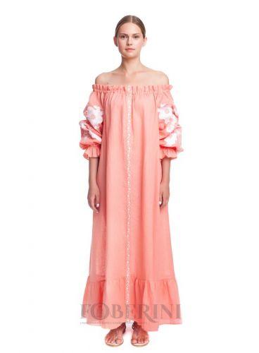 Платье-вышиванка «Абрикосовое цветение»