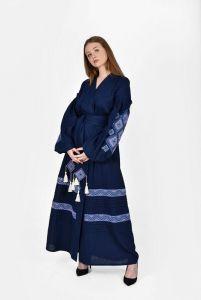 """Вишиті сукні Сукня вишита """"Сузір'я"""" темно-синя"""
