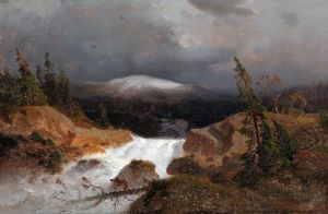 Ахенбах Андреас Норвежский горный пейзаж