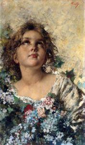 Иролли Винченцо Девочка с цветами