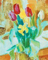 Натюрморт с тюльпанами и нарциссами