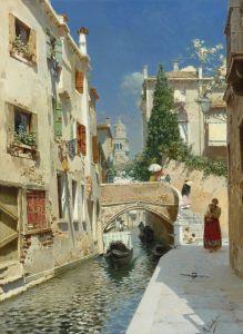 Санторо Рубенс Венецианский канал с колокольней деи Фрари вдали
