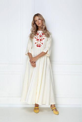 Платье-макси «Мэри» молочного цвета