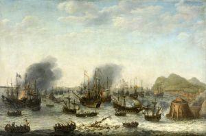 Перемога голландців над іспанцями біля Гібралтару 25 квітня 1607 №2