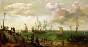 Барокко Корабли у побережья