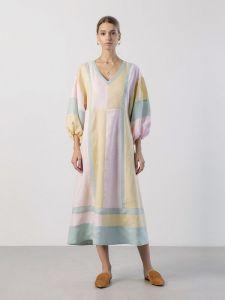 Вишиті сукні Лляна сукня вільного крою Marshmallow