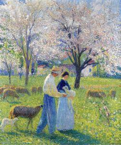 Мартен Анри Влюбленные весной