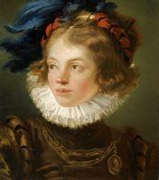 Мальчик в костюме пажа, голова и плечи