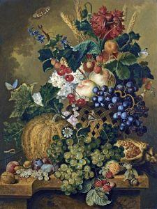 Линдхорст Якобус Натюрморт с фруктами на каменном выступе