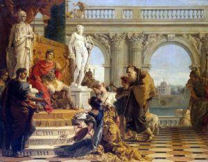 Рококо Меценат представляет свободные искусства императору Августу