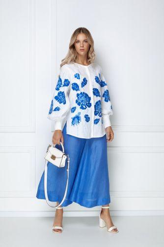 «Камелия» белая блуза