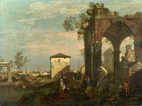 Капризный пейзаж с руинами