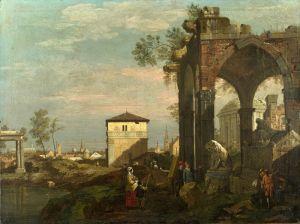 Рококо Капризный пейзаж с руинами