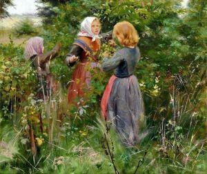 Брендекильде Ганс Андерсен Три маленьких девочки собирают ежевику