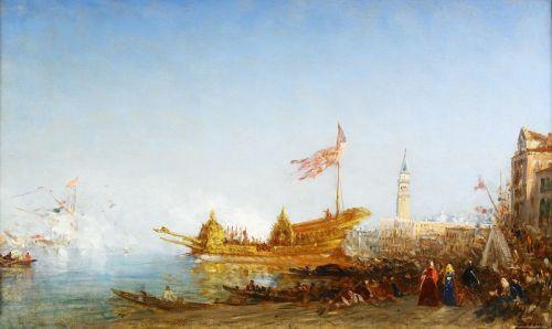 Отчаливание Букентавра из Бухты поганок, Венеция