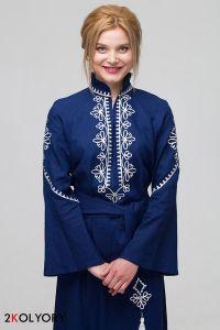 """Бренды Платье вышиванка """"Роксолана"""" синяя"""